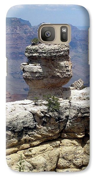 Galaxy Case featuring the photograph Grand Canyon Bluff by Philomena Zito