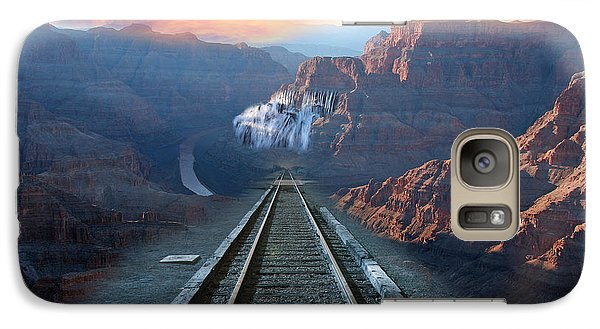 Galaxy Case featuring the photograph Grand Canyon Collage by Gunter Nezhoda