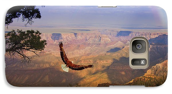 Galaxy Case featuring the digital art Grand Canyon Eagle by Bruce Rolff