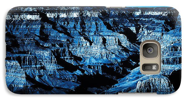 Galaxy Case featuring the digital art Grand Canyon In Blue by Bartz Johnson