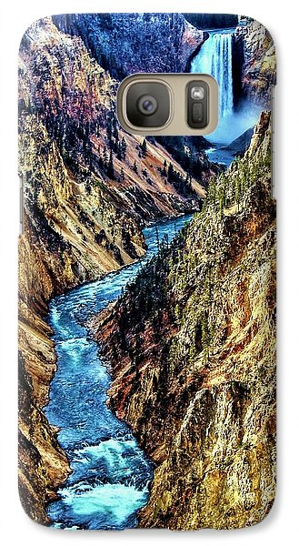 Galaxy Case featuring the photograph Grand Canyon Of The Yellowstone by Benjamin Yeager
