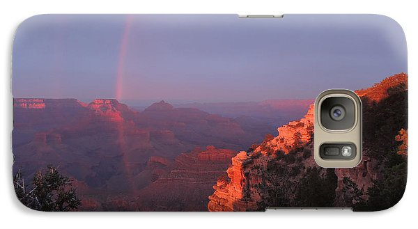 Galaxy Case featuring the photograph Grand Canyon Rainbow by Jayne Wilson