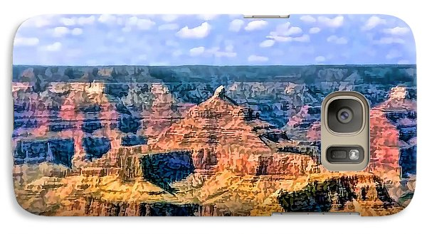 Galaxy Case featuring the painting Grand Canyon by Tracie Kaska