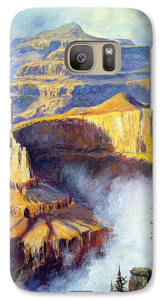 Galaxy Case featuring the painting Grand Canyon View by Lee Piper