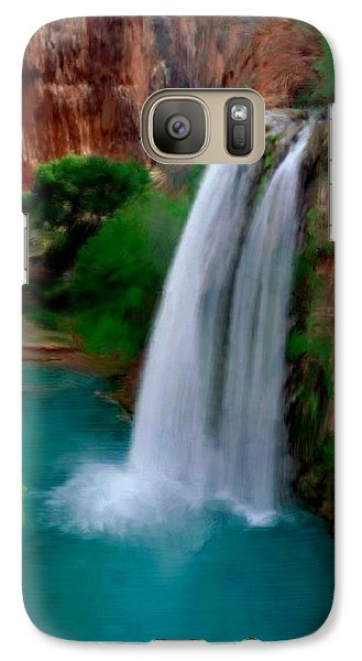Galaxy Case featuring the painting Grand Canyon Waterfalls by Bruce Nutting