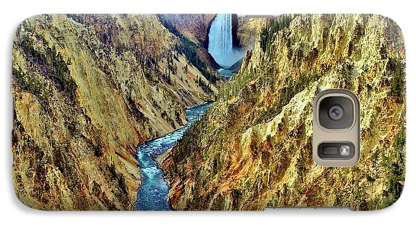 Galaxy Case featuring the photograph Grand Cayon Of The Yellowstone River by Benjamin Yeager