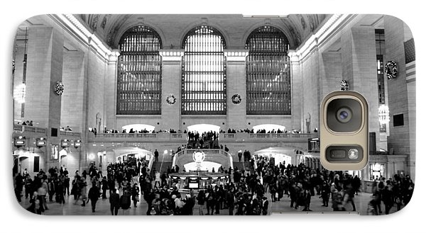 Galaxy Case featuring the photograph Grand Central Terminal Black And White by Robert  Moss