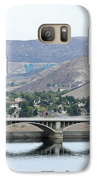 Galaxy Case featuring the photograph Grand Coulee Dam And Coulee City by E Faithe Lester