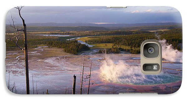 Galaxy Case featuring the photograph Grand Prismatic At Dusk by Jon Emery