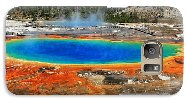 Galaxy Case featuring the photograph Grand Prismatic Spring by Clare VanderVeen