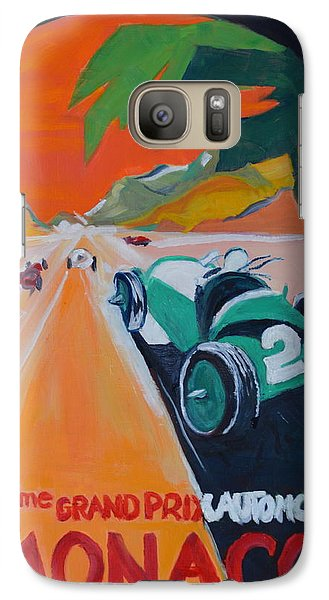 Galaxy Case featuring the painting Grand Prix by Julie Todd-Cundiff