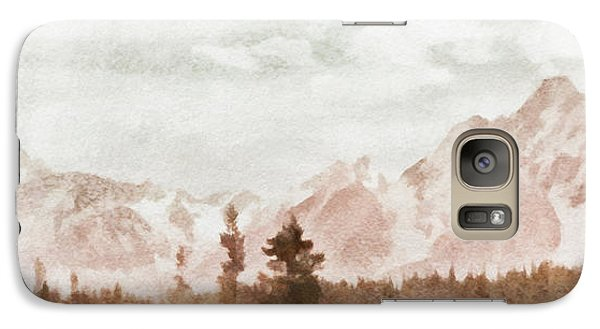 Galaxy Case featuring the painting Grand Teton Mountains by Greg Collins