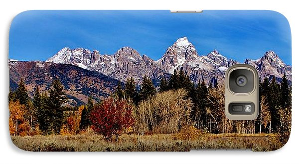 Galaxy Case featuring the photograph Grand Teton Panorama by Benjamin Yeager