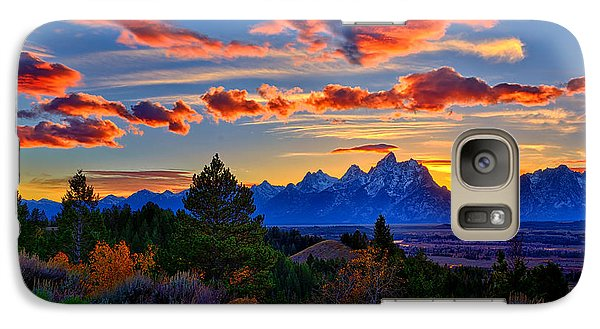 Galaxy Case featuring the photograph Grand Teton Sunset by Greg Norrell