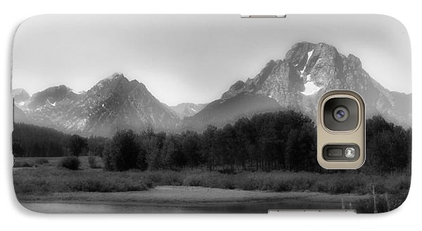 Galaxy Case featuring the photograph Grand Tetons Bw by Ron White