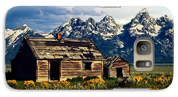 Galaxy Case featuring the photograph Grand Tetons Cabin by John Haldane