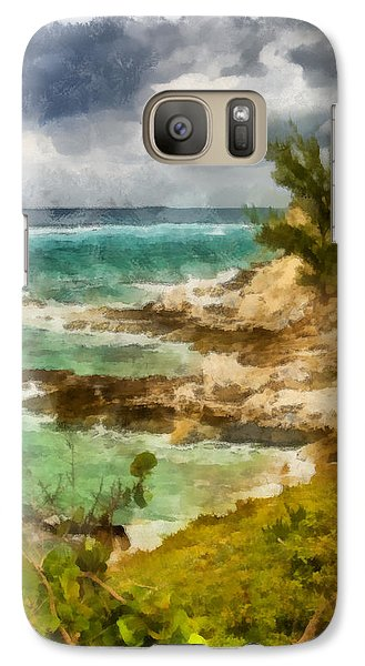 Galaxy Case featuring the photograph Grand Turk North Shore Vertical by Michael Flood