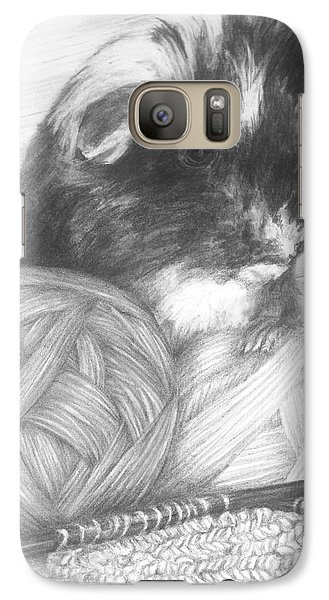 Galaxy Case featuring the drawing Grandma Paisley by Meagan  Visser