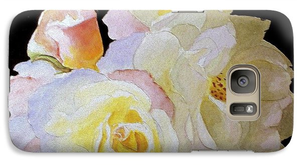 Galaxy Case featuring the painting Grandmas Roses Of Color by Carol Grimes