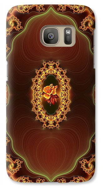 Galaxy Case featuring the photograph Grandmother's Rose Brooch by Lea Wiggins