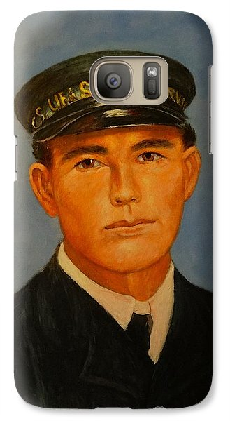 Galaxy Case featuring the painting Grandpa Peterson by Charles Munn