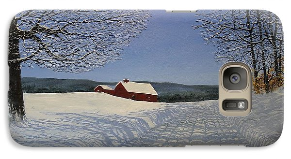 Galaxy Case featuring the painting Grandpa's Farm by Ken Ahlering
