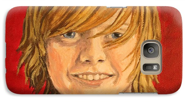 Galaxy Case featuring the painting Grandson-lake by Wendy Shoults