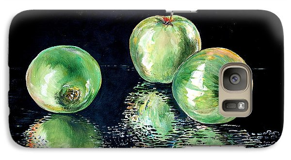 Galaxy Case featuring the painting Granny Smith by Iya Carson