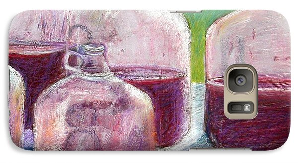 Galaxy Case featuring the pastel Grape Stomp Residuals Pastel by Antonia Citrino