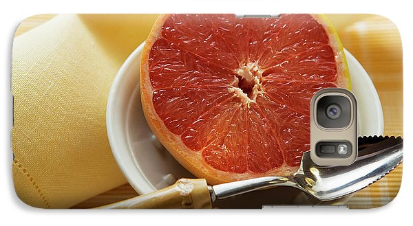 Grapefruit Half With Grapefruit Spoon In A Bowl Galaxy S7 Case