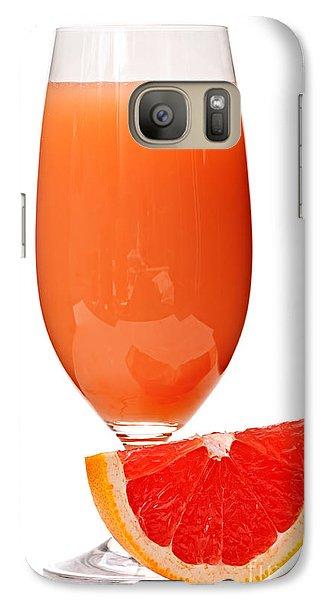 Grapefruit Juice In Glass Galaxy Case by Elena Elisseeva