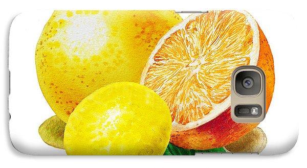Grapefruit Lemon Orange Galaxy S7 Case by Irina Sztukowski