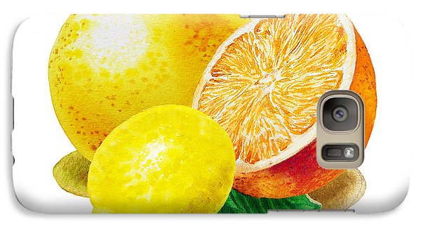 Galaxy Case featuring the painting Grapefruit Lemon Orange by Irina Sztukowski