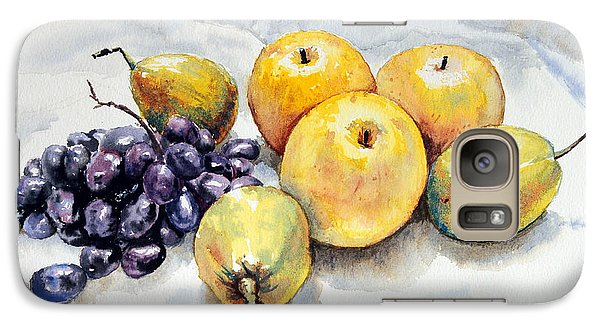 Galaxy Case featuring the painting Grapes And Pears by Joey Agbayani