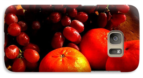 Galaxy Case featuring the photograph Grapes And Tangerines by Greg Allore