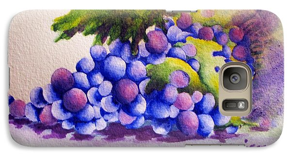Galaxy Case featuring the painting Grapes by Chrisann Ellis