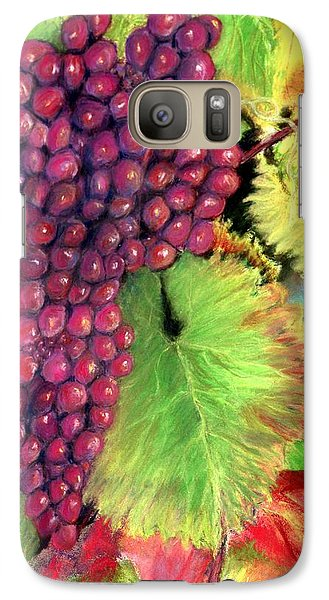 Galaxy Case featuring the pastel Grapes On Vine Pastel by Antonia Citrino