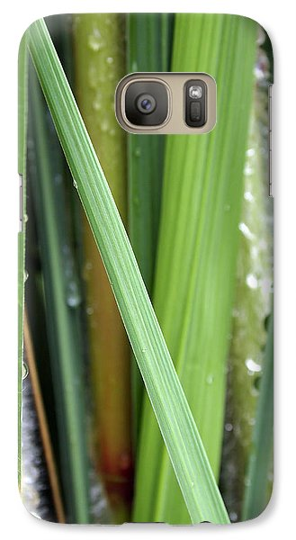 Galaxy Case featuring the photograph Grass Blades Morning Dew by Deborah Fay