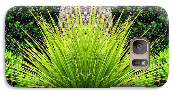 Galaxy Case featuring the photograph Grass Burst by Katie Wing Vigil