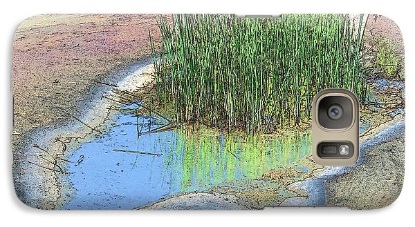 Galaxy Case featuring the photograph Grass Growing On Rocks by Teresa Zieba