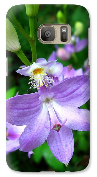 Galaxy Case featuring the photograph Grass Pink Orchid by William Tanneberger