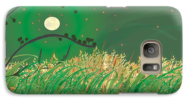 Galaxy Case featuring the digital art Grasses In The Wind by Kim Prowse