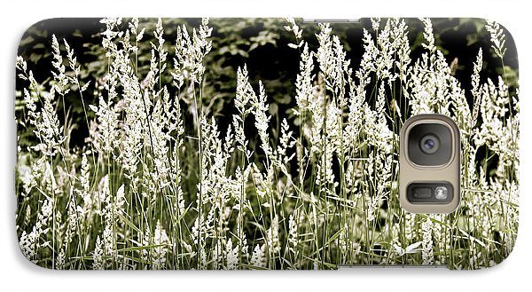 Galaxy Case featuring the photograph Grasses In White by Susan Crossman Buscho