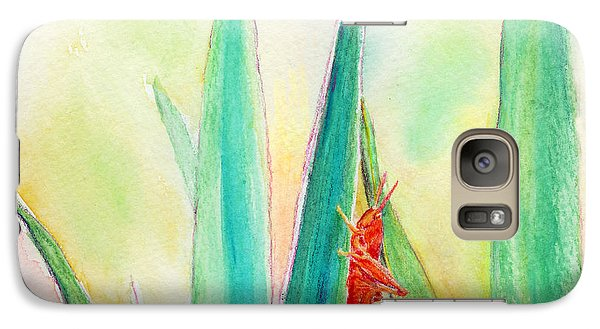 Galaxy Case featuring the painting Grasshopper by C Sitton