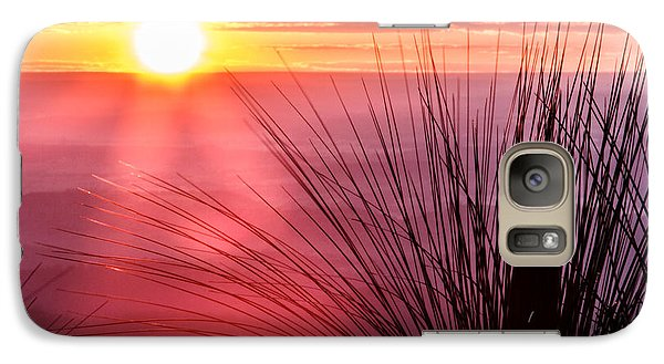 Galaxy Case featuring the photograph Grasstree Sunset by Peta Thames
