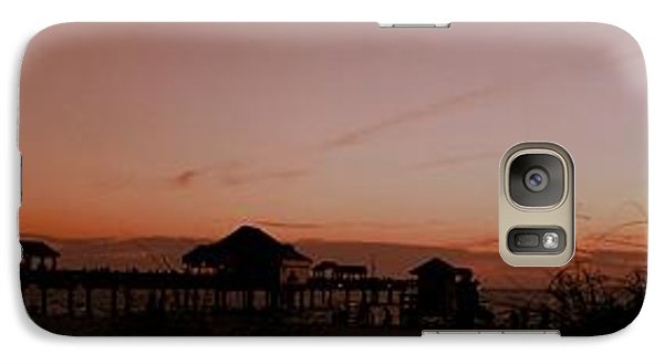 Galaxy Case featuring the photograph Grassy After Glow At Pier 60 Panorama by Richard Zentner