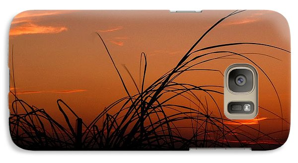 Galaxy Case featuring the photograph Grassy After Glow by Richard Zentner