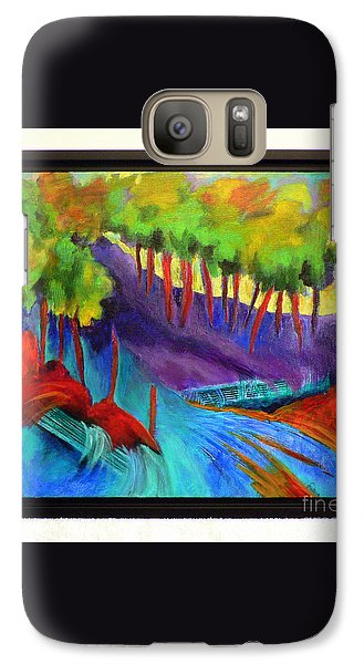 Galaxy Case featuring the painting Grate Mountain by Elizabeth Fontaine-Barr