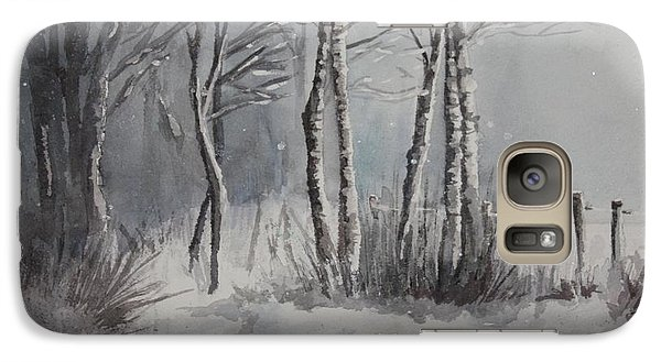 Galaxy Case featuring the painting Gray Forest by Rachel Hames