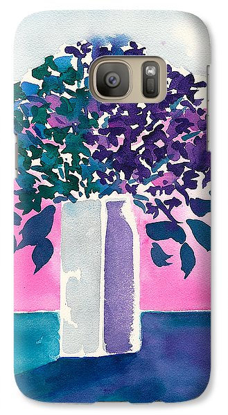 Galaxy Case featuring the painting Gray Vase by Frank Bright
